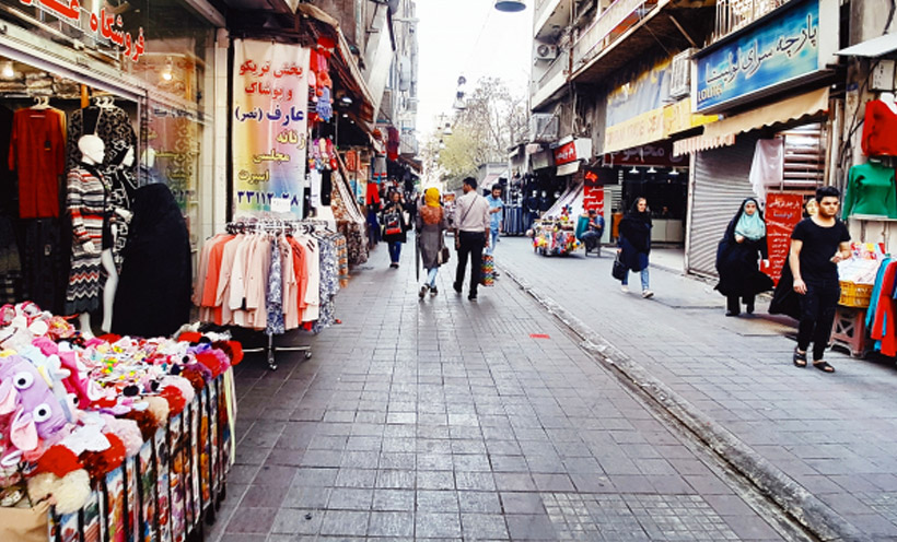 Shopping options and notes for women clothing in Iranian market