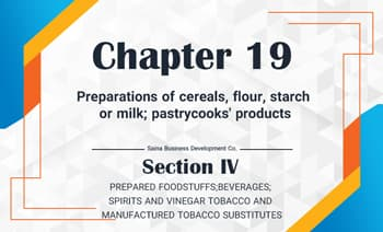 Preparations of cereals, flour, starch or milk; pastrycooks' products