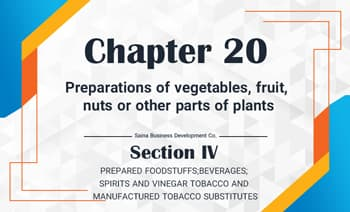 Preparations of vegetables, fruit, nuts or other parts of plants