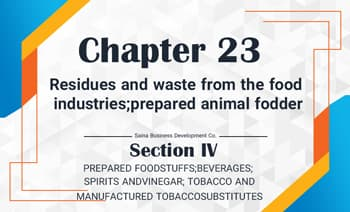 Residues and waste from the food industries; prepared animal fodder